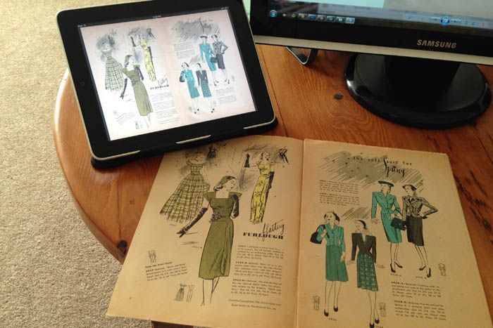 Free Download – 1944 Butterick Fashion News – Lucky Lucille