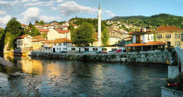 Bascarsija, Sarajevo, Bosnia and Herzegovina, Nikon Coolpix L310, 7.3mm, 1/500s, ISO 80, f/3.5, -0.7ev, panorama mode: segment 6, HDR-Art photography, 201607101813