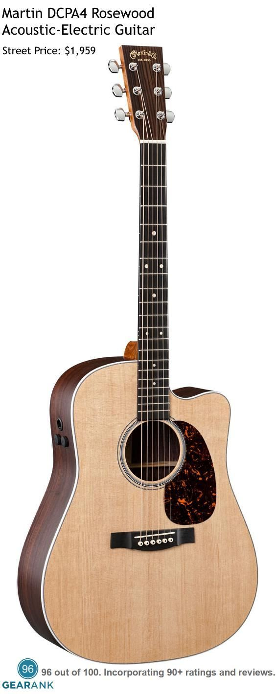 The Martin DCPA4 Rosewood is the highest rated acoustic-electric guitar under $2000. Chris Cornell from Soundgarden is probably the best known artist who plays this guitar. For a detailed guide to The Best Acoustic Guitars see https://www.gearank.com/guides/acoustic-guitars