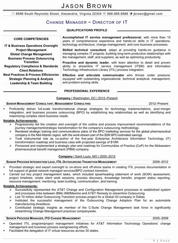 Information Technology Manager Resume Examples Elegant Change Management Resume Resume Examples Job Resume Examples Manager Resume