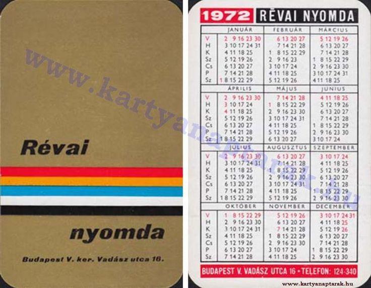 1972 - 1972_0565 - Régi magyar kártyanaptárak