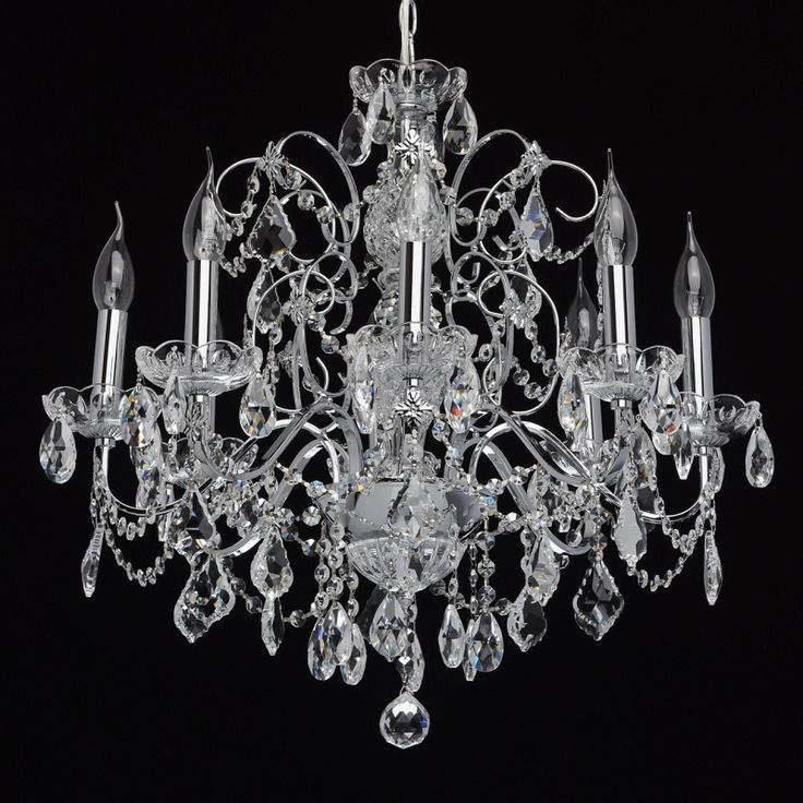 Klassischer Kerzen Kronleuchter in Chrom 8-flammig MW-Light 367013408