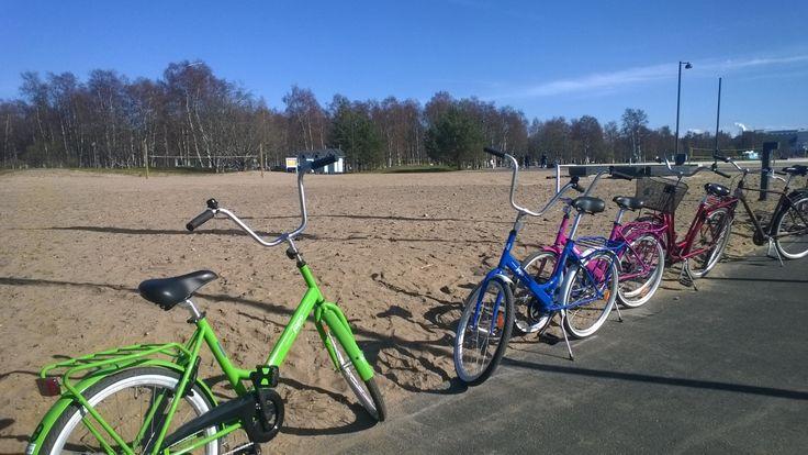 """Nallikari Holiday Village & Camping in Oulu rents """"Jopo""""-bikes"""