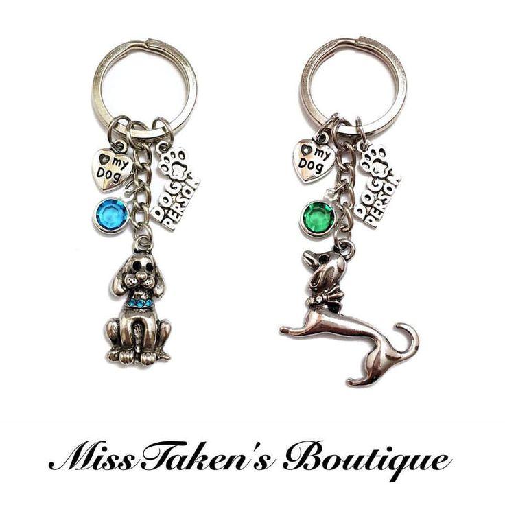 Dog+Charm+Keychain + Comes+with+4+charms+-+dog+person+charm,+<3+my+dog+charm,+dog+charm,+acrylic+gemstone  Keychain+Length:+Approx.+7.6+cm Key+Ring+Diameter:+2.5+cm  Condition:+Brand+New+-+Handmade