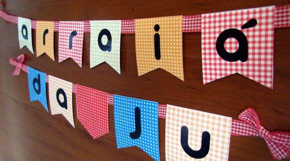Bandeiras Kit Festa junina   Design Festeiro