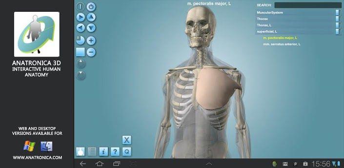 Anatomy 3D Pro – Anatronica jest małą encyklopedią wiedzy, o budowie człowieka. Przydatny lekarzom , oraz zwykłym ludziom w celu poszerzenia swojej