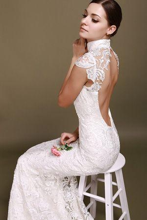 brides of adelaide magazine - high neck wedding dress - fashion - couture wedding - turtleneck wedding dress - lace