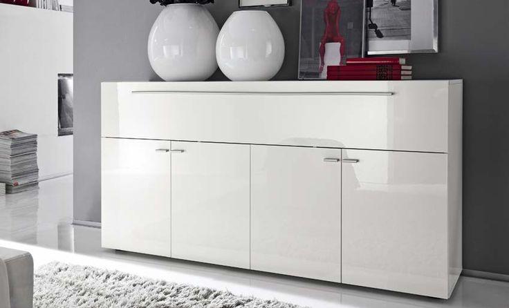 #Madia #design moderna tutta in bianco #lLccatoLucido.