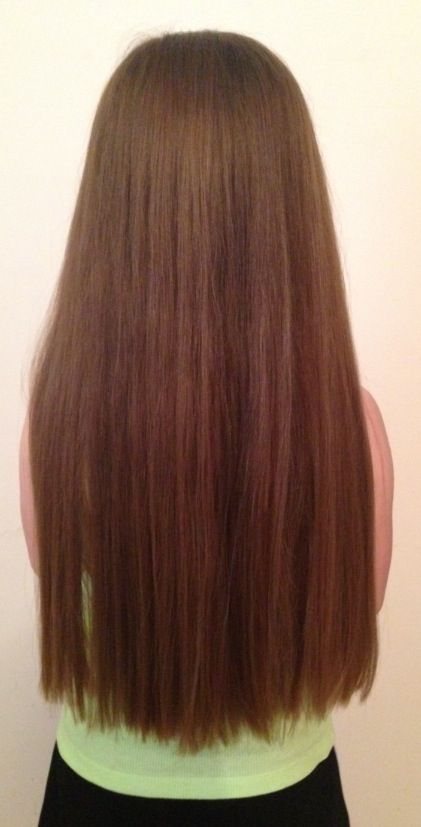 Square one length hair cut
