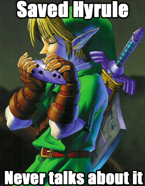 That's okay, We all know what happened. <--- I like to think he only talked about it with Zelda, as she was the only one (besides the sages) to remember it all.