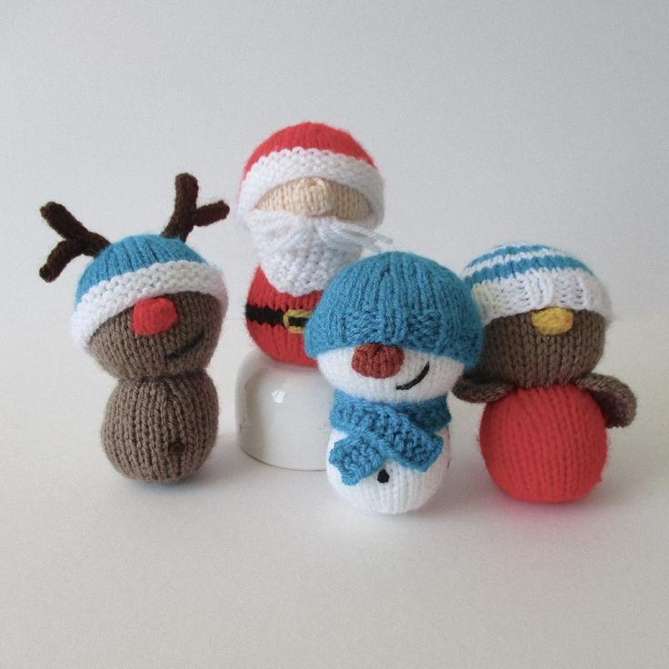 Dinky Christmas Toys Knitting pattern by Amanda Berry | Knitting Patterns | LoveKnitting