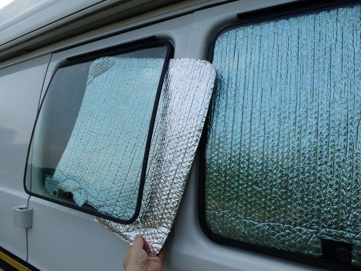 Inserting Reflectix In Side Door Windows They Slip