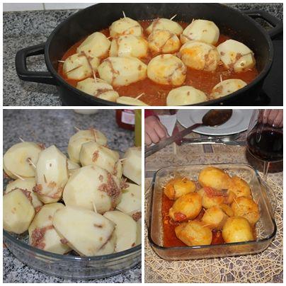 Batatas recheadas Avó  Carolina