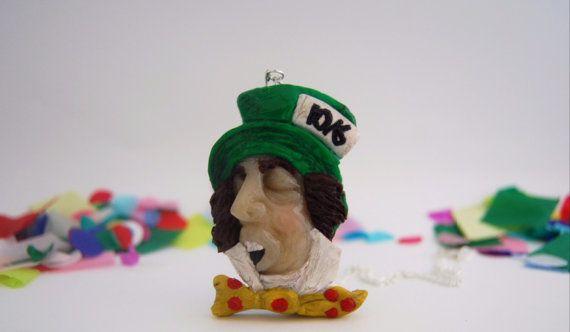 Alice in Wonderland Mad Hatter pendant or brooch $58.95