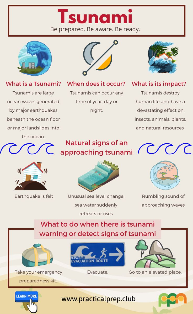 tsunami facts disasters for earthquake