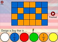 Maths Games - Fraction flags