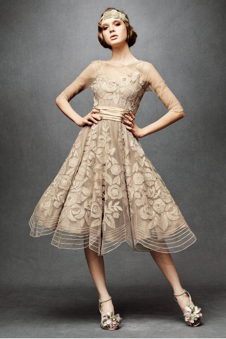 Vintage gatsby style lace wedding dresses