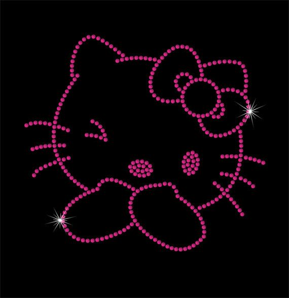 Hello Kitty Rhinestone IronOn Transfer  DIY Iron by MPShineDesigns, $7.00