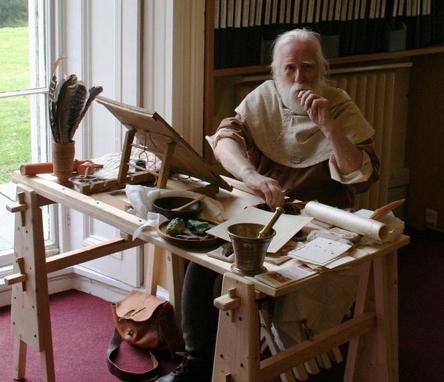 Medieval Scribe | Flickr - Photo Sharing! the table top desk...have to make