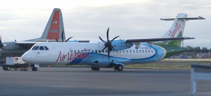 Air Vanuatu ATR-72-500 in Christchurch for maintenance  Type: ATR-72-212A Registration: YJ-AV72 Location: Christchurch International Airport Date: 08/03/2011