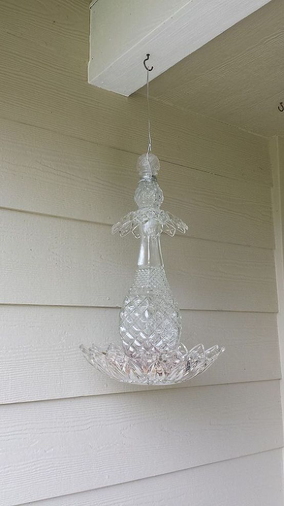 Vintage Glass Bird Feeder with instructions. Lovely