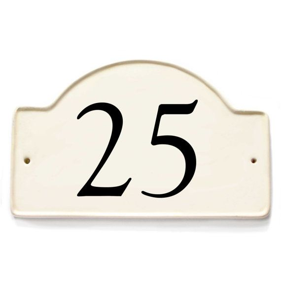 19 best house plaques from my etsy shop gail yerrill for Classic house number plaque