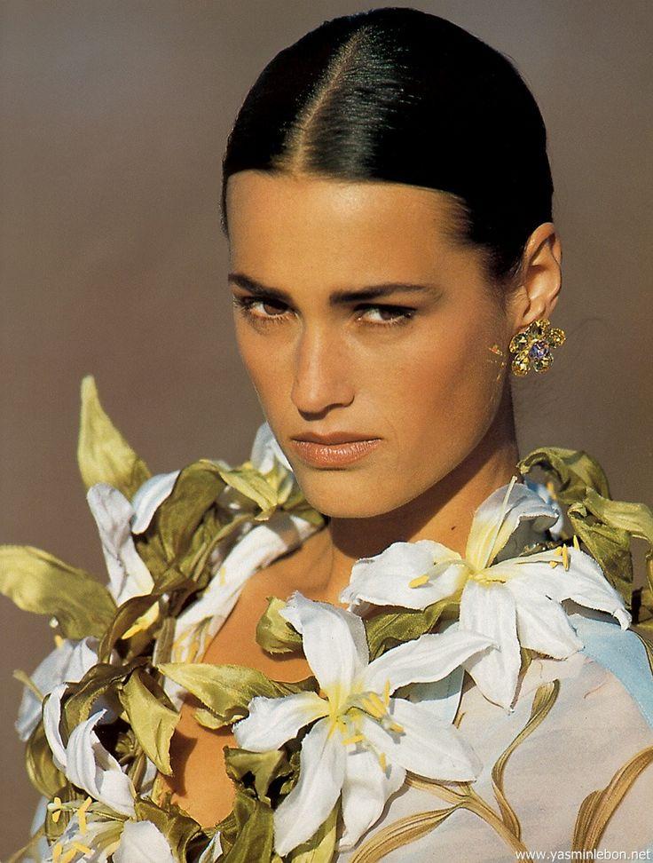 "US ELLE March 1991 ""Options from Milan"" Model: Yasmin Le Bon Photographer: Gilles Bensimon Stylist: Loren Laney"