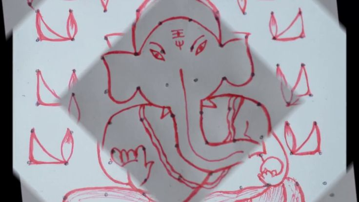Simple kolam for Vinayakar Chaturthi special/step by step procedure to d...