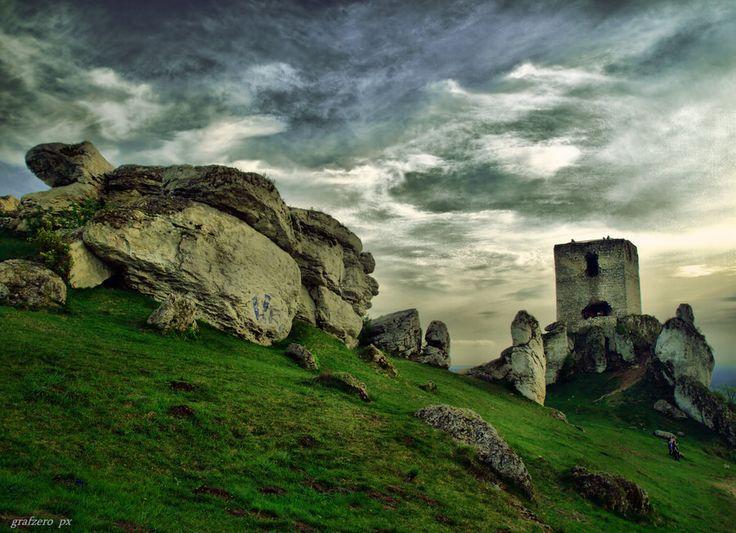 Castle and rocks Olsztyn near Częstochowa, Poland