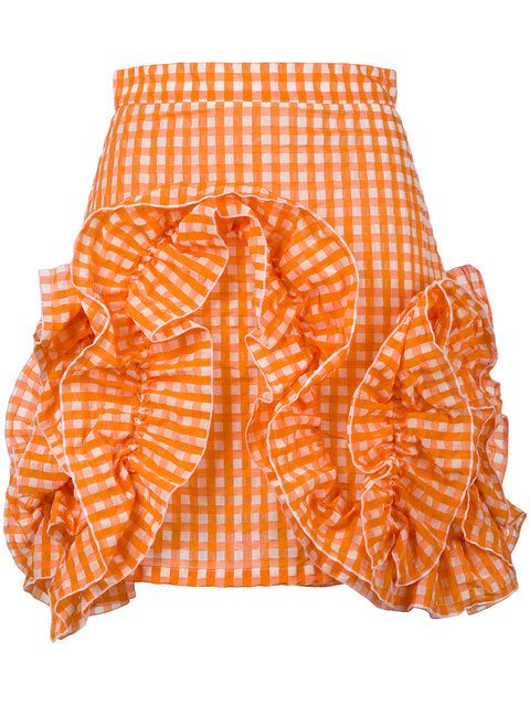 Shop MSGM ruffled skirt .