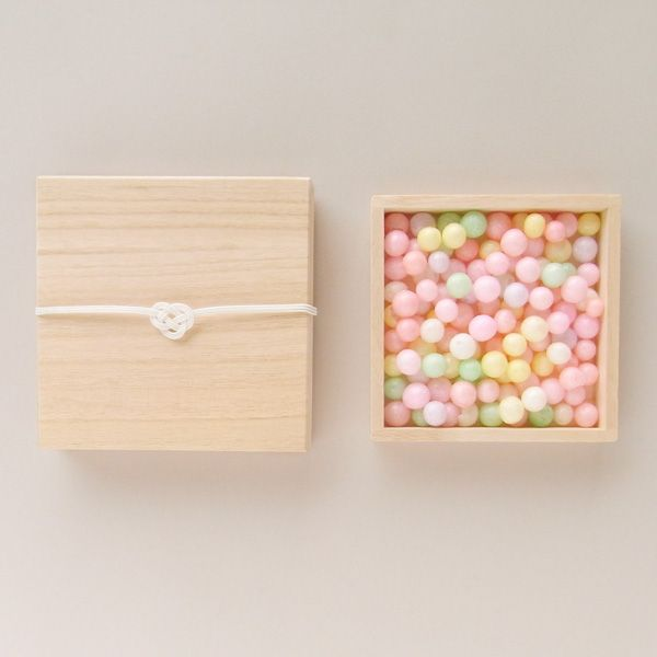 """Oiri"" is a local sweet of Kagawa Prefecture, the bride and groom give it to guest at wedding ceremony."