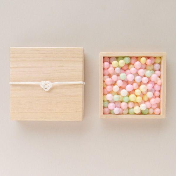 桐箱入りおいり rice sweets for gift