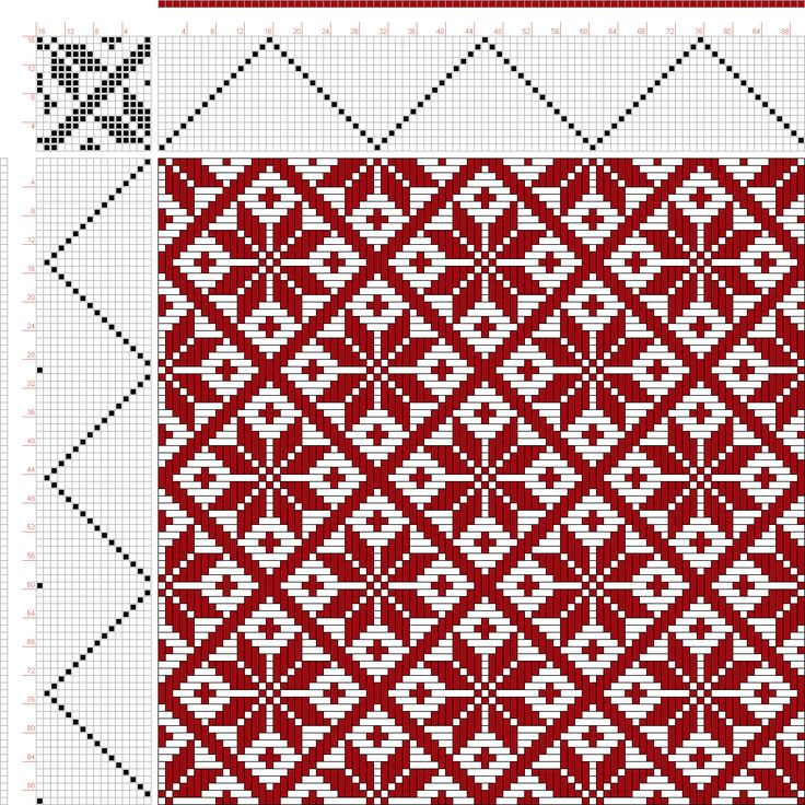 draft image: Page 151, Figure 13, Donat, Franz Large Book of Textile Patterns, 16S, 16T