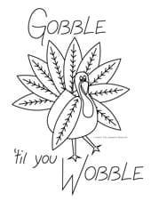 Gobble 'til You Wobble! Turkey embroidery pattern for Thanksgiving FREE via about.com