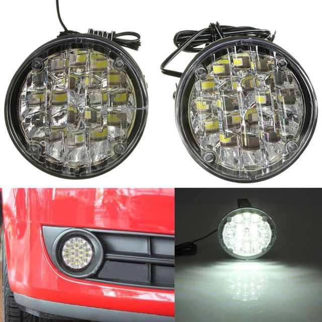 LED DAYTIME RUNNING LIGHTS DRL 6000K BRIGHT WHITE