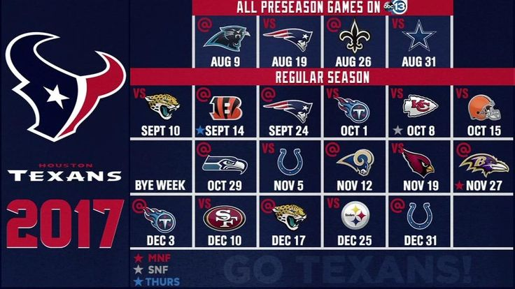2017 NFL Preseason Houston Texans Wallpaper Schedules - Live Wallpaper HD