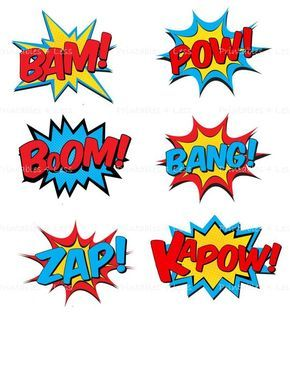 Superhero Centerpiece Pick, Superhero Party Supplies, DIY Superhero Party Decoration, Printable Supe