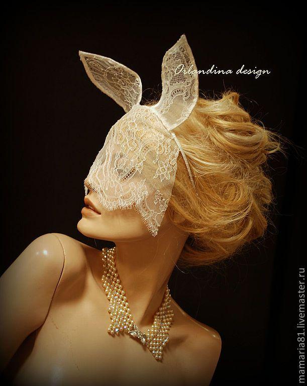 Купить Свадебная вуалетка с кружевными ушками - белый, вуалетка, вуалетка невесты, свадебное украшение