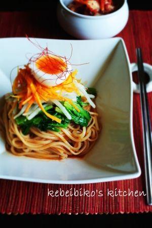【簡単・ヘルシーな韓国料理のレシピ】野菜ナムルと韓国万能調味料でビビン麺                                                                                                                                                                                 もっと見る
