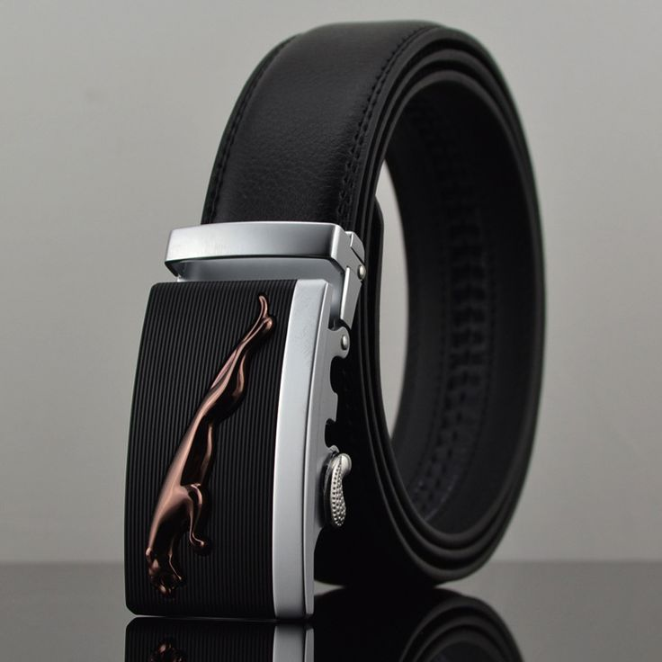 Automatic Buckle Leather Belt Men's Fashion Personality Genuine Leather Belts For Men Fashion Lexus Mens Belt Luxury Waist Strap