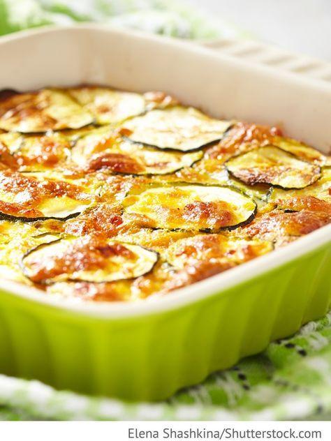 Zucchini- Fleisch Auflauf Sapekanka is kabatschkov c mjasom - Запеканка из кабачков с мясом и сыром - Russische Rezepte