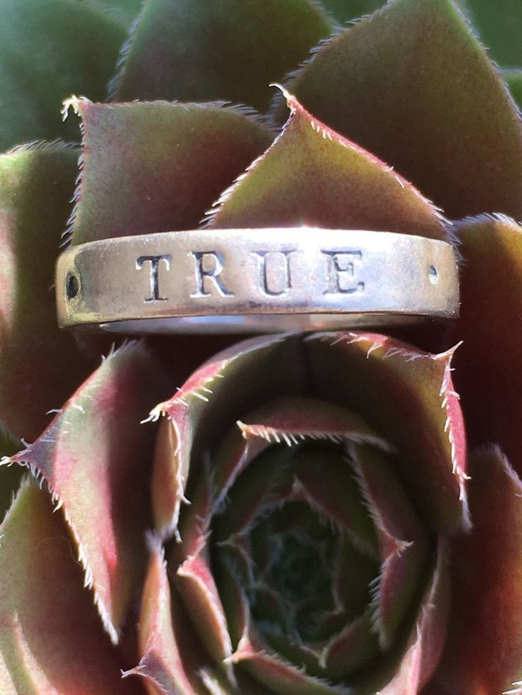 """Ring Sterling Silver Purity Ring """"True Love Waits"""""""