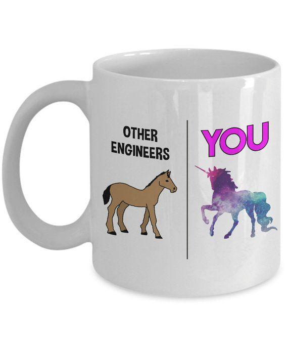 Engineer Gift Mug Graduation Engineering Degree For Unicorn By IndigoPineMugs