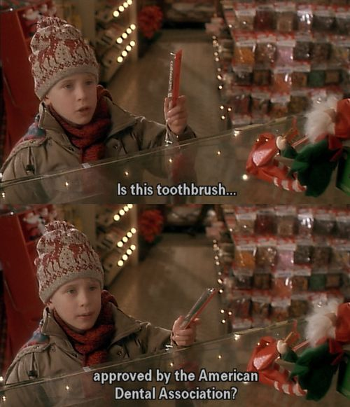 He cares about dental hygiene. | Community Post: Why Kevin McCallister Is Not Your Average Kid