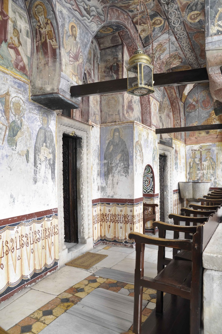 frescoes - Chora, Patmos - Greece, monastery of Saint John the Theologian - founded in 1088
