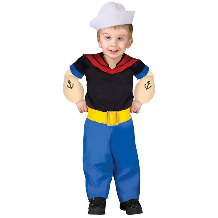 Popeye Costume - Toddler, Boy's, Size: 24 Mos-2T, Multicolor