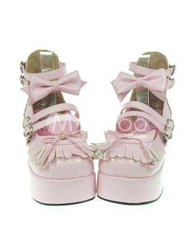 Lolita arcos Decor tobillo perlas plataforma sandalias blanco alta xIwqzrIZ
