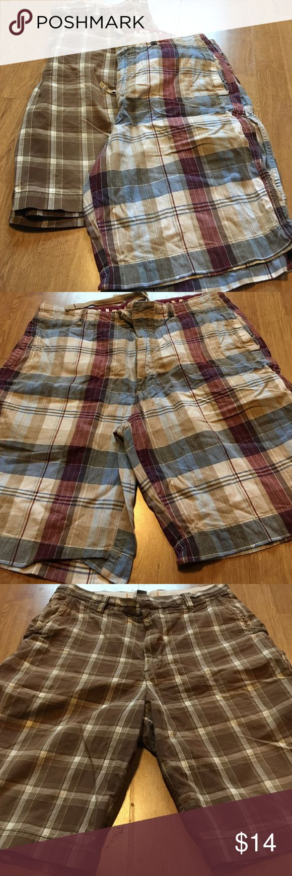 Two pairs of Men's plaid shorts! Size 34 Men's shorts- both fun plaids, urban pipeline and Union Bay! Good condition! UNIONBAY Shorts Flat Front