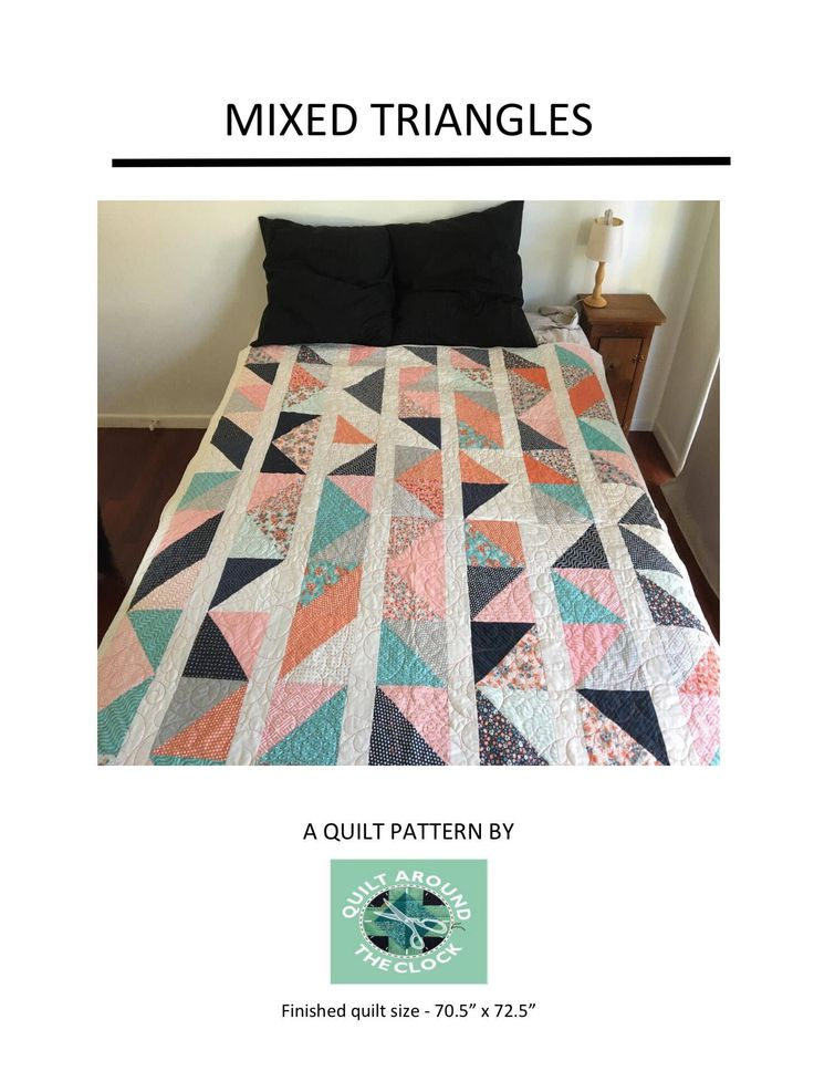 Mixed Triangles Quilting Pattern | Quilting Pattern | PDF pattern | immediate download by QuiltAroundTheClock on Etsy https://www.etsy.com/au/listing/568311483/mixed-triangles-quilting-pattern
