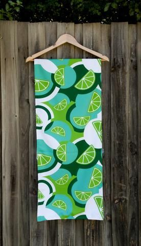 Table Runner: Lime Sundowners design by olioko